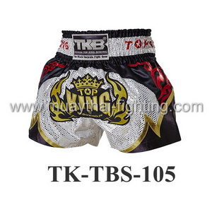 Top King Shorts TK-TBS-105 White Black Red