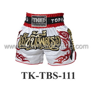 Top King Muay Thai Shorts TK-TBS-111 White Jeb Ni Pheu Ter
