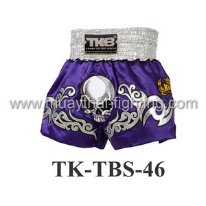 Top King Muay Thai Shorts TK-TBS-46 Purple Death Skull