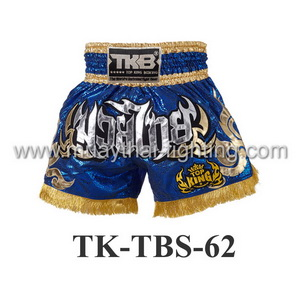Top King Muay Thai Shorts TK-TBS-62 Blue Gold