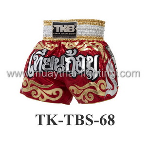 Top King Muay Thai Shorts TK-TBS-68 Red Gold