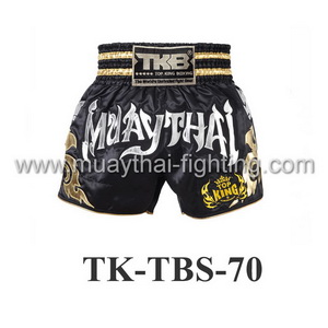 Top King Muay Thai Shorts TK-TBS-70 Black Silver
