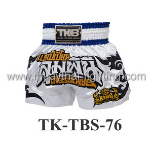 Top King Muay Thai Shorts TK-TBS-76 White Champion Lumpini