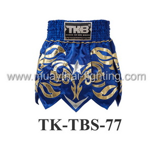 Top King Muay Thai Shorts TK-TBS-77 Blue Gold