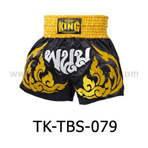 Top King Muay Thai Shorts TK-TBS-79 Black Gold Phanom