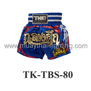 Top King Muay Thai Shorts TK-TBS-80 Blue Celebration