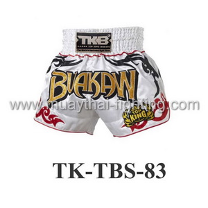 Top King Muay Thai Shorts TK-TBS-83 White Buakaw