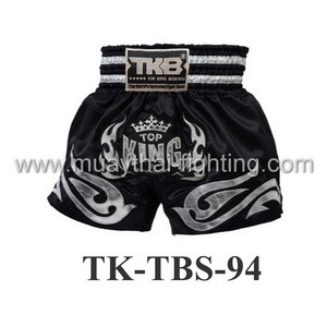 Top King Muay Thai Shorts TK-TBS-94 Black Silver size 4L