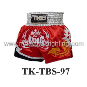 Top King Muay Thai Shorts TK-TBS-97 Red White