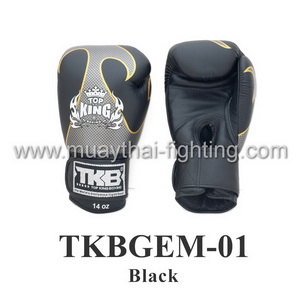 Top King Boxing Gloves Empower Creativity TKBGEM-01 Black