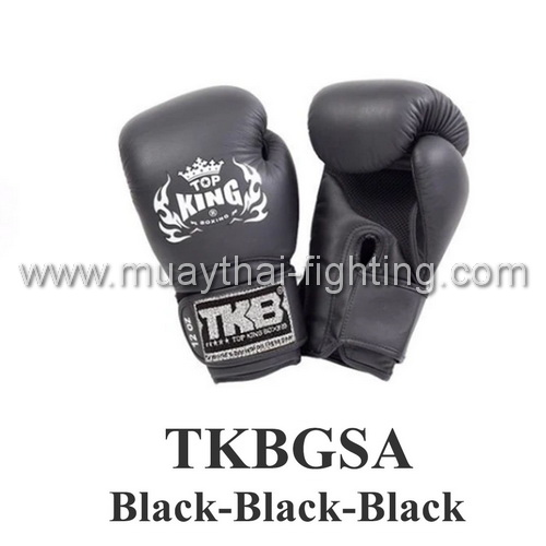 "TOP KING Boxing Gloves Super ""Air"" TKBGSA-Black/Black/Black"