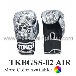 TOP KING Boxing Gloves Snake Design Air TKBGSS-02 Black/Silver