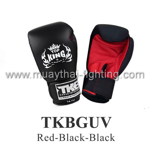 Top King Boxing Gloves Ultimate Velcro TKBGUV-Red/Black/Black