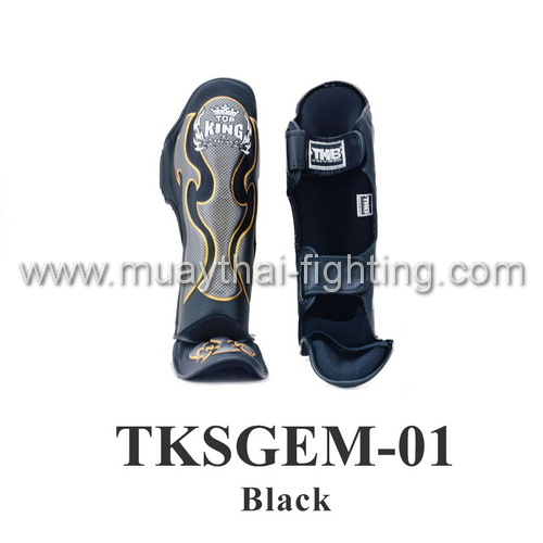 Top King Shin Guard Empower Creativity TKSGEM-01 Black