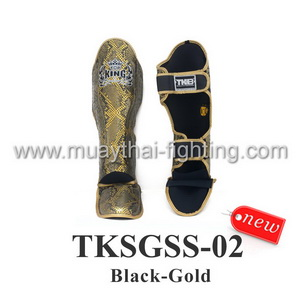 TOP KING Shin Guards  Snake Design TKSGSS-02 Black/Gold