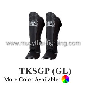 TOP KING Shin Guard Pro Genuine Leather TKSGP (GL)-Black/White