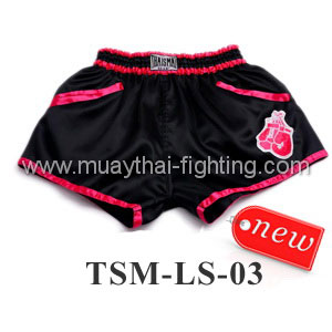 ThaiSmai Lady Shorts TSM-LS-03 Black with Pink Trim