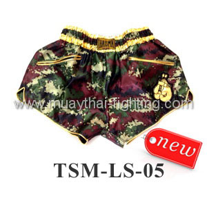 ThaiSmai Lady Shorts TSM-LS-05 Camo Green/Red