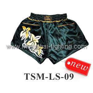ThaiSmai Lady Shorts TSM-LS-09 Black with Flowers