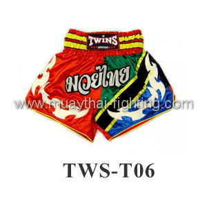 Twins Special Muay Thai Shorts Red Green Blue TWS-T06