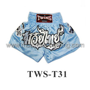 Twins Special Muay Thai Shorts Blue Muay Thai TWS-T31