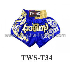 Twins Special Muay Thai Shorts Blue Muay Thai TWS-T34