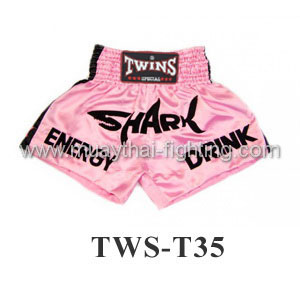 Twins Special Muay Thai Shorts Pink Shark TWS-T35
