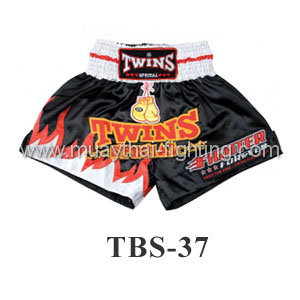 Twins Special Muay Thai Shorts White Red TWS-T37
