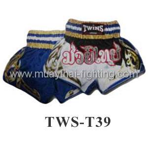 Twins Special Muay Thai Shorts Black White with Gold TWS-T39