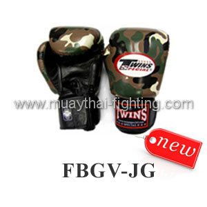 Twins Special Fancy Boxing Gloves Army Jungle Green FBGV-JG