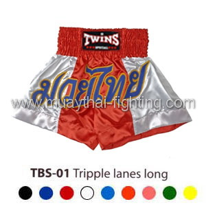 Twins Special Muay Thai Shorts Tripple Lanes Long TBS-01