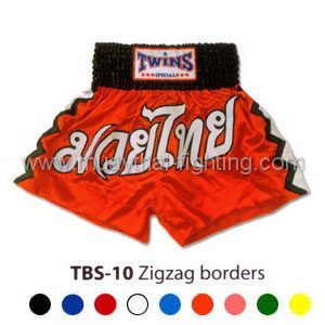 Twins Special Muay Thai Shorts Zigzag borders TBS-10