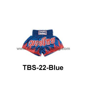 Twins Special Muay Thai Shorts Muay Thai under attack TBS-22 Blue