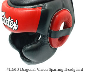 Fairtex Diagonal Vision Sparring Headguard HG13F