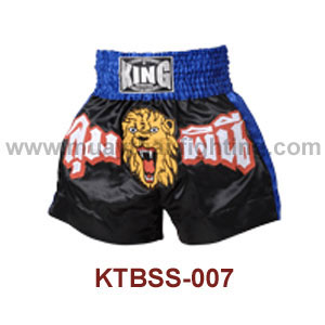 Top King Lumphinee Lion Satin Muay Thai Shorts KTBSS-007
