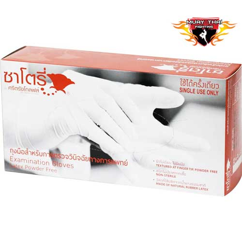 Latex Natural Rubber Disposable Powder-Free Gloves Box images