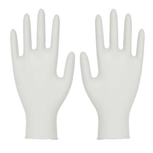 Latex Natural Rubber Disposable Powder-Free Gloves Full images