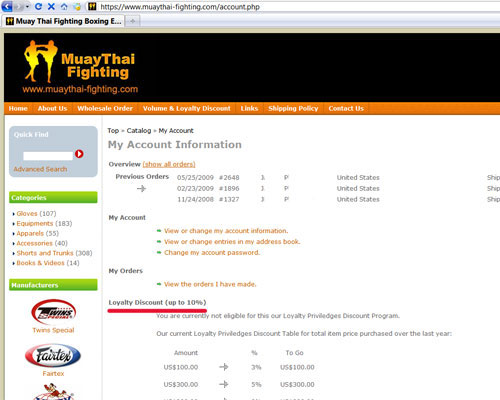 Muay Thai Fighting Loyalty Account
