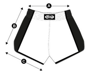 Fairtex Boxing Shorts Sizing Chart