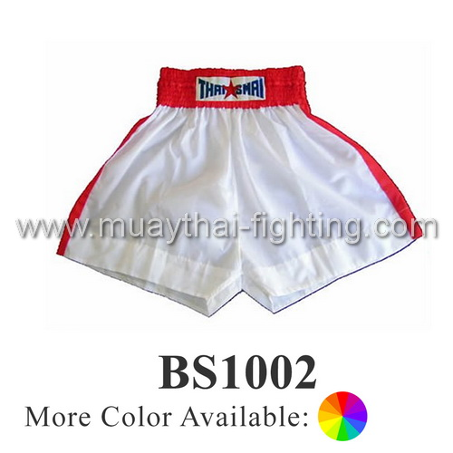 ThaiSmai Muay Thai Plain Short Single Stripe BS-1002