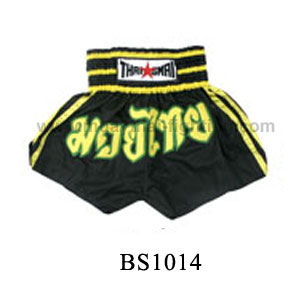 ThaiSmai Muay Thai Shorts Yellow Lines BS-1014