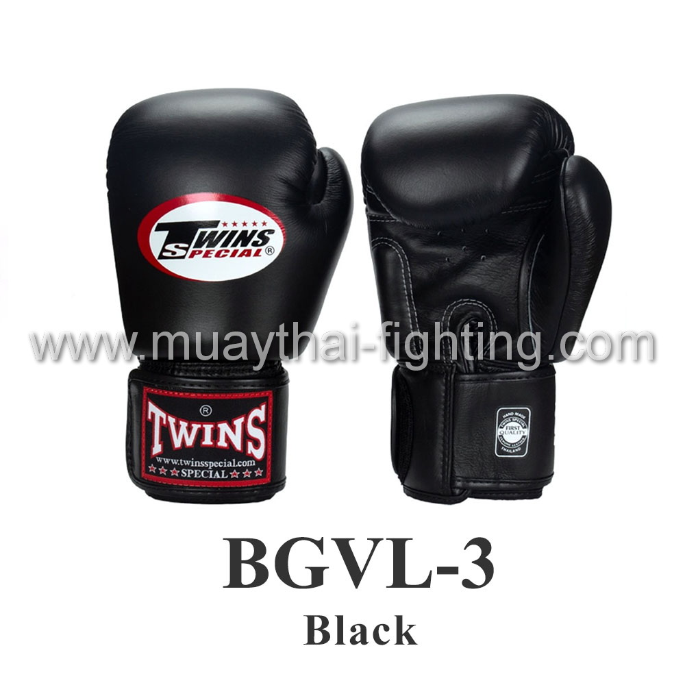 Twins Special Muay Thai Boxing Gloves BGLV-3 Black