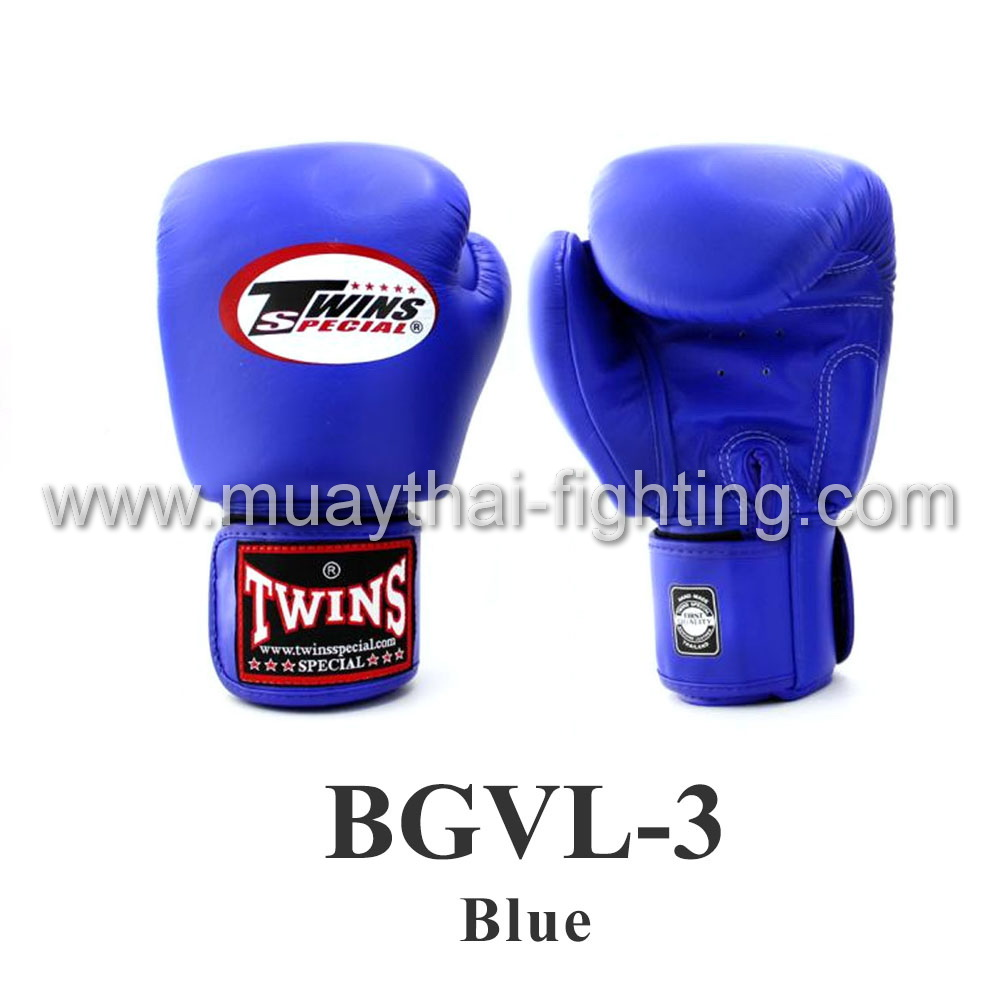 Twins Special Muay Thai Boxing Gloves BGVL-3 Blue