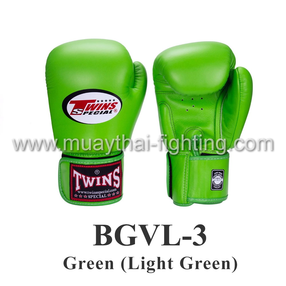 Twins Special Muay Thai Boxing Gloves BGVL-3 Green (Light Green)