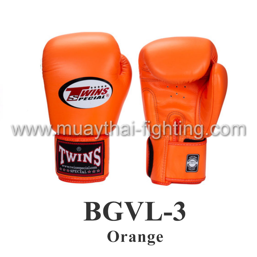 Twins Special Muay Thai Boxing Gloves BGVL-3 Orange