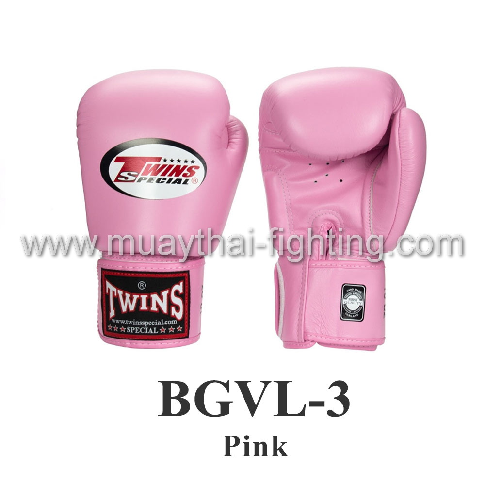 Twins Special Muay Thai Boxing Gloves BGVL-3 Pink