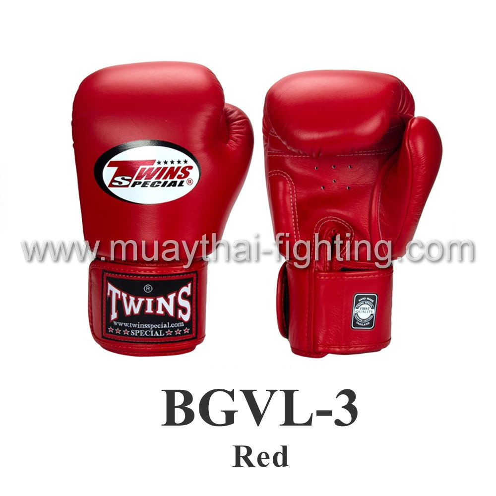 Twins Special Muay Thai Boxing Gloves BGVL-3 Red
