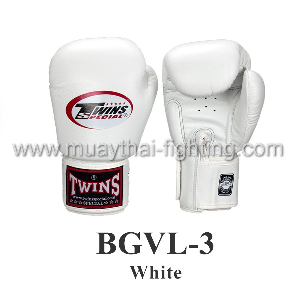 Twins Special Muay Thai Boxing Gloves BGVL-3 White