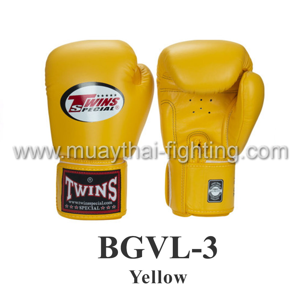 Twins Special Muay Thai Boxing Gloves BGVL-3 Yellow