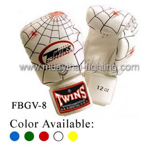 Twins Special Fancy Boxing Gloves Spider Pattern FBGV-8